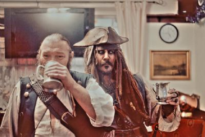 Captain Jack and Shipmate Gibbs